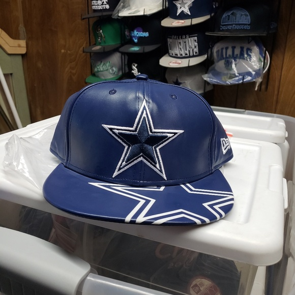 fe6e243b9f8b35 NFL Accessories | Dallas Cowboys New Era 9fifty Leather Snapback Hat ...